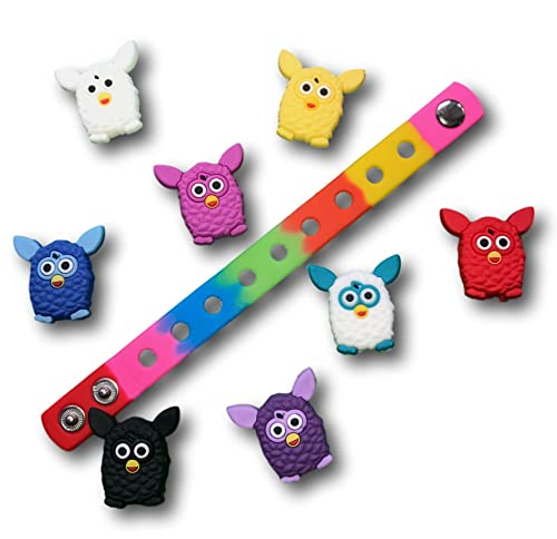 f0bbfd87d5 Amazon.com: Jibbitz for Crocs Shoes by Nenistore| Cute Shoe Charms Plug  Accessories for Crocs & Bracelet Wristband Party Gifts| Furby (Set of 8  pcs) & 01 ...
