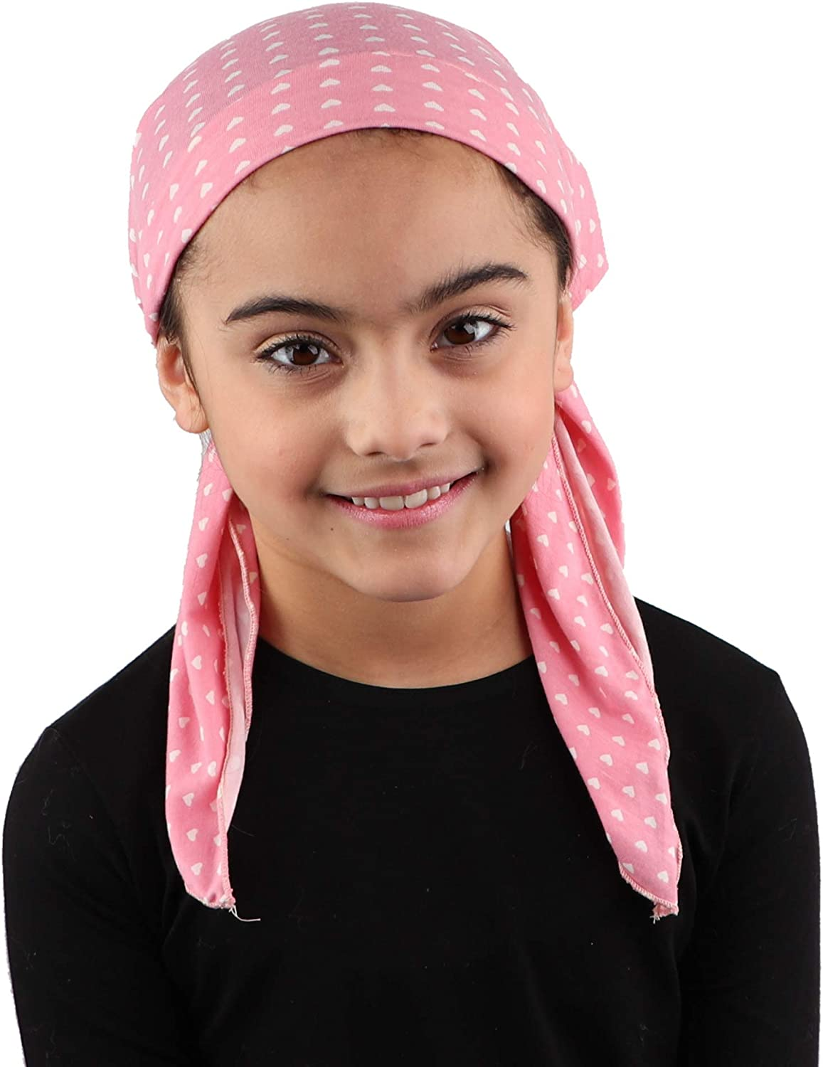 Kids Pretied Head Scarf Cancer Chemo Cap Printed Headcover for Girls