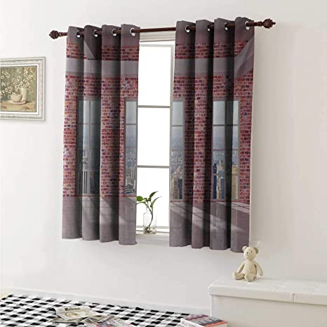 Amazon.com: shenglv Modern Customized Curtains Red Brick ... on window treatments for doors with windows, window blinds and shades ideas, kitchen remodels with no windows, fabric for kitchen windows, kitchen valances for windows, window treatment patterns for kitchens, window treatments for window seats, window treatments for corner windows, ideas to dress up windows, diy curtain ideas for windows, large kitchen windows, valance ideas for large windows, window cornice ideas, best window treatments for kitchen windows, window treatments for bow windows, curtain ideas for kitchen windows, window treatments for large windows, design ideas for kitchen windows, rustic kitchens with big windows,