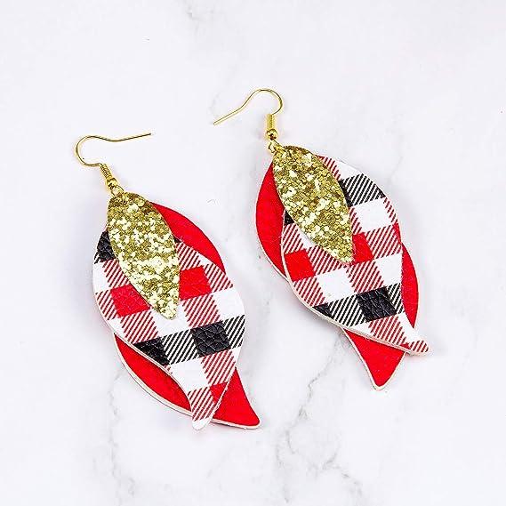Leather Earrings Various Window Sizes 12pk Die Cut Gold Streams DIY