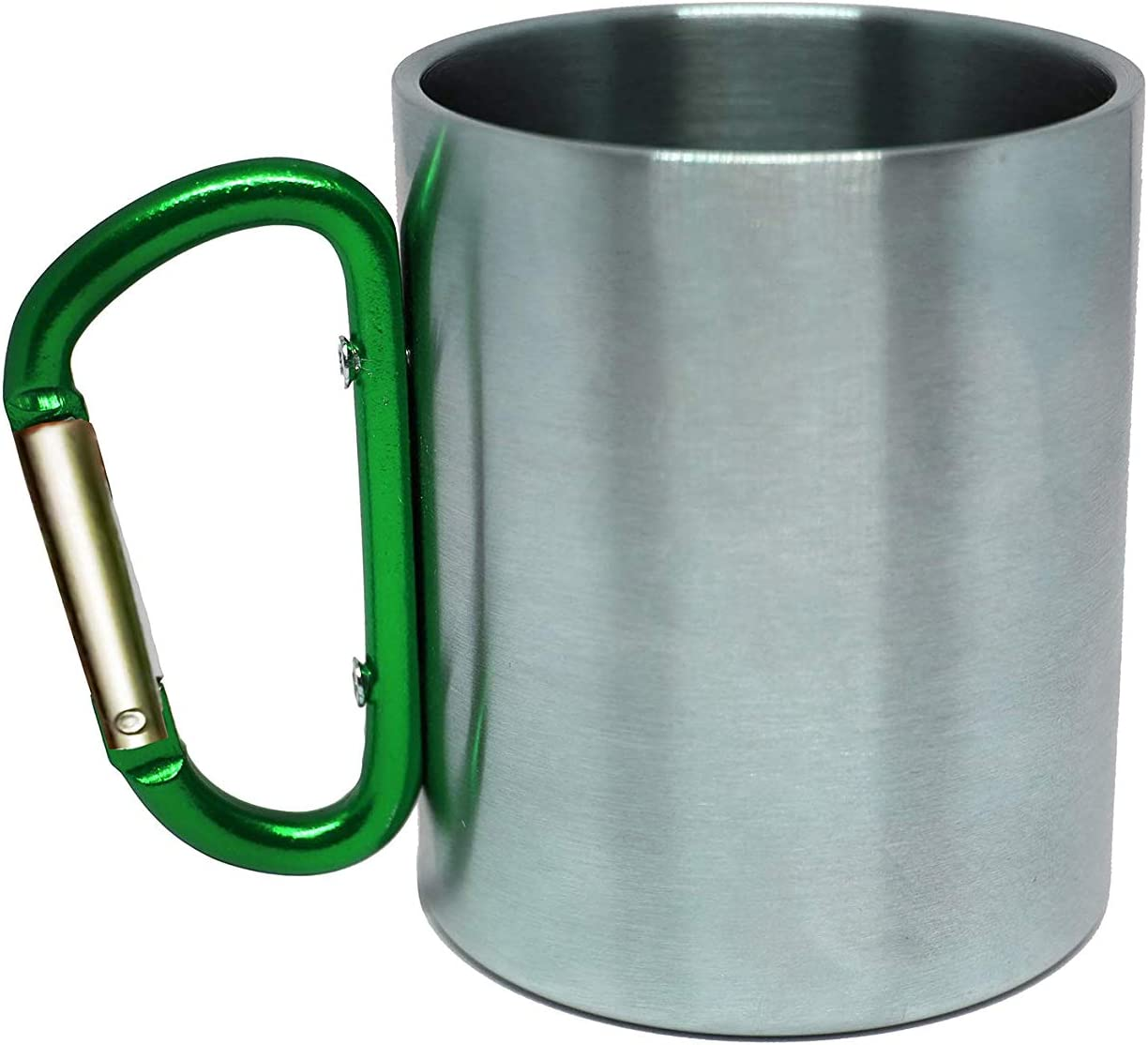 Camping and Backpacking Travel Cup 10 oz Campifize Camp Mug with Carabiner Handle Stainless Steel Hiking