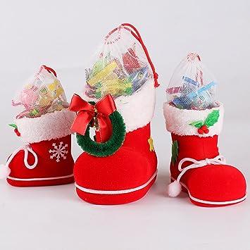 Amazon De Miaoben Weihnachts Candy Stiefel Kinder Geschenke Box