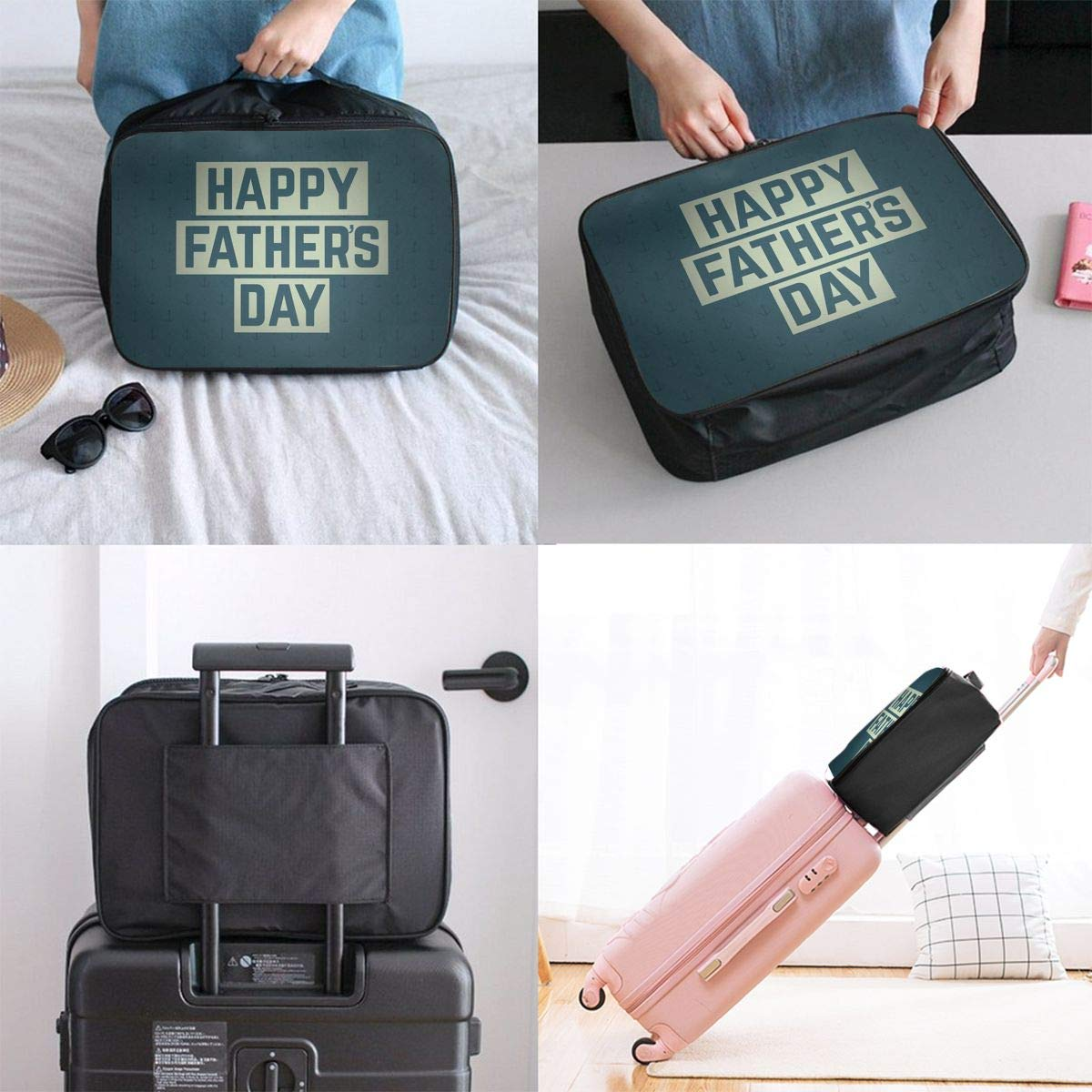 Travel Luggage Duffle Bag Lightweight Portable Handbag Fathers Day Large Capacity Waterproof Foldable Storage Tote