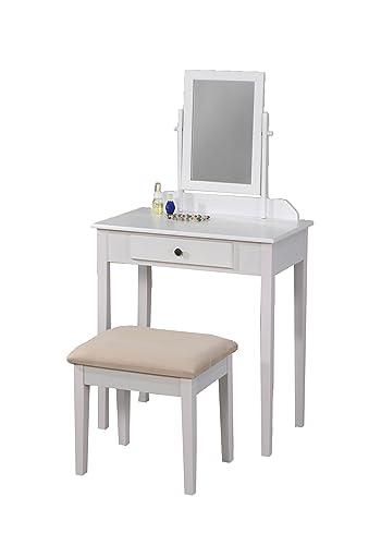 William s Home Furnishing Vanity, White, Lilette Finish