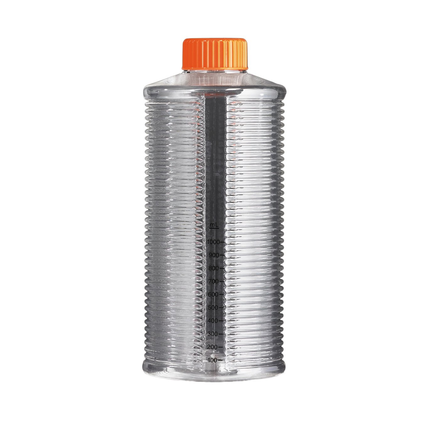 Corning 431321 Polystyrene Sterile Graduated Roller Bottle with Orange Easy Grip HDPE Cap (Case of 44 Bags, 22 per Bag)