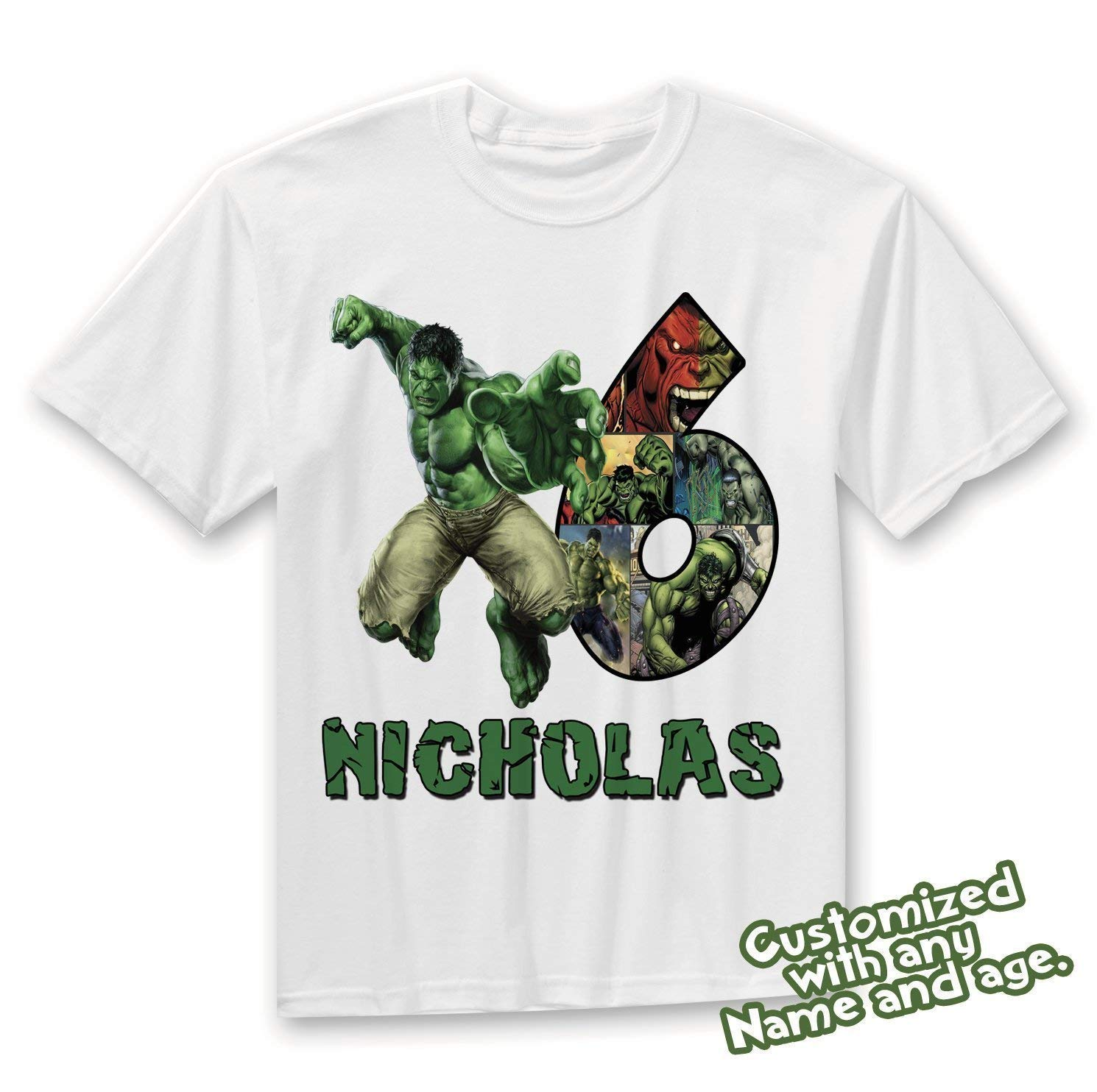 Amazon Hulk Family Birthday Shirt HULK Custom Personalized Shirts T Handmade
