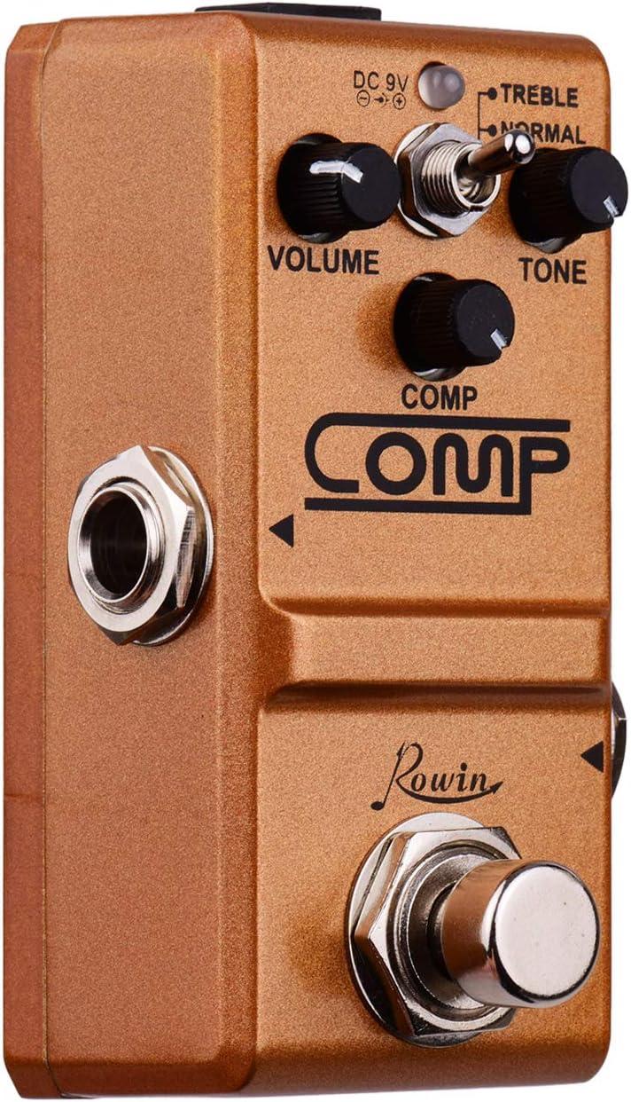 Fesjoy Compresor Pedal de guitarra Pedal de efectos True Bypass