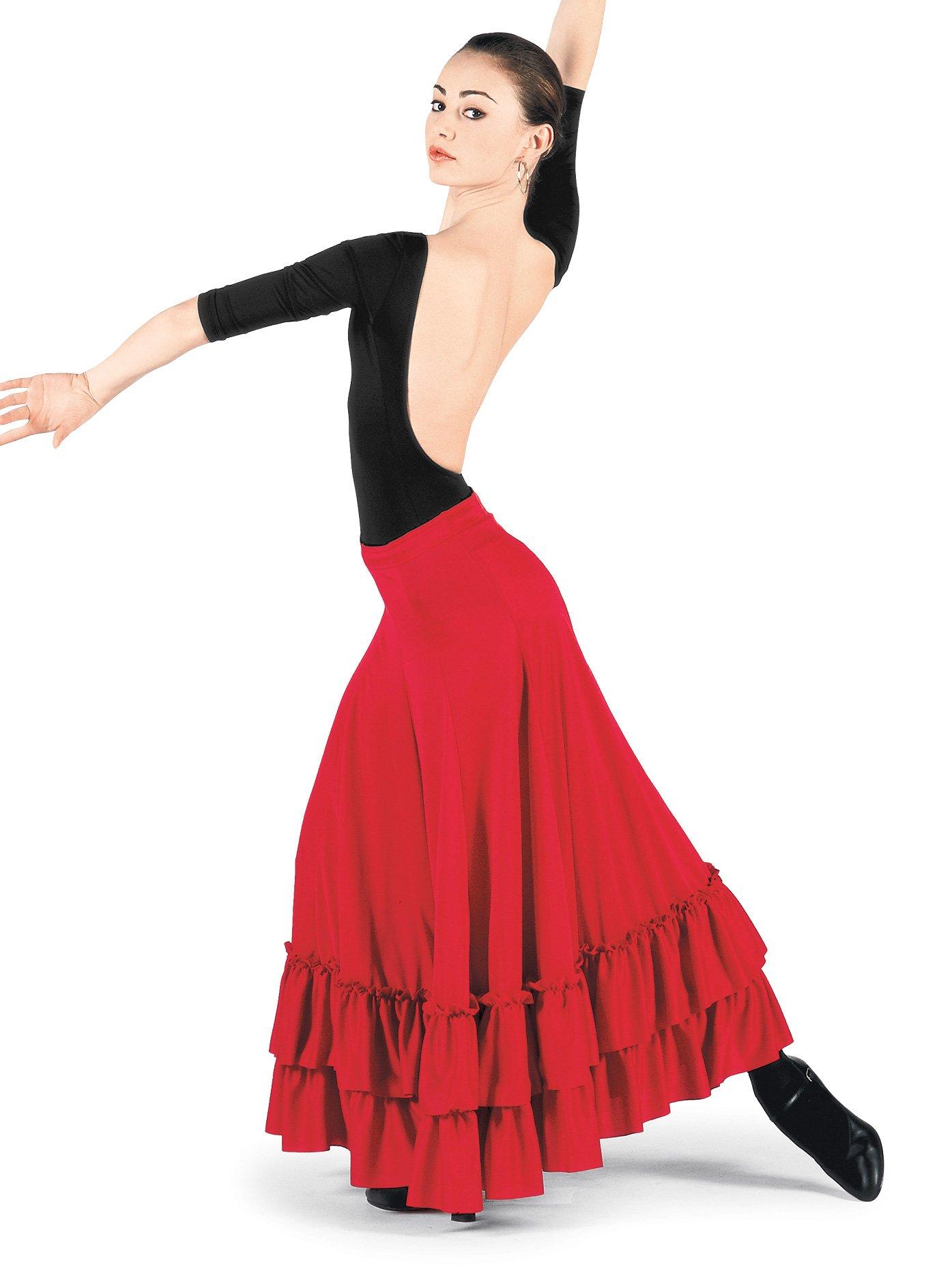 Adult Flamenco Skirt,9100REDM,Red,Medium by Bal Togs