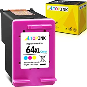 ATOPINK Remanufactured Ink Cartridge Replacement for HP 64XL 64 XL Fit in Envy Photo 7800 7158 7855 6222 7164 6255 6252 7858 7120 7130 6220 6230 6232 6234 Tango X Smart All-in-One (Tri-Color, 1-Pack)