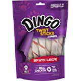 Dingo Twist Sticks Jumbo Rawhide Chews Made with Real Chicken