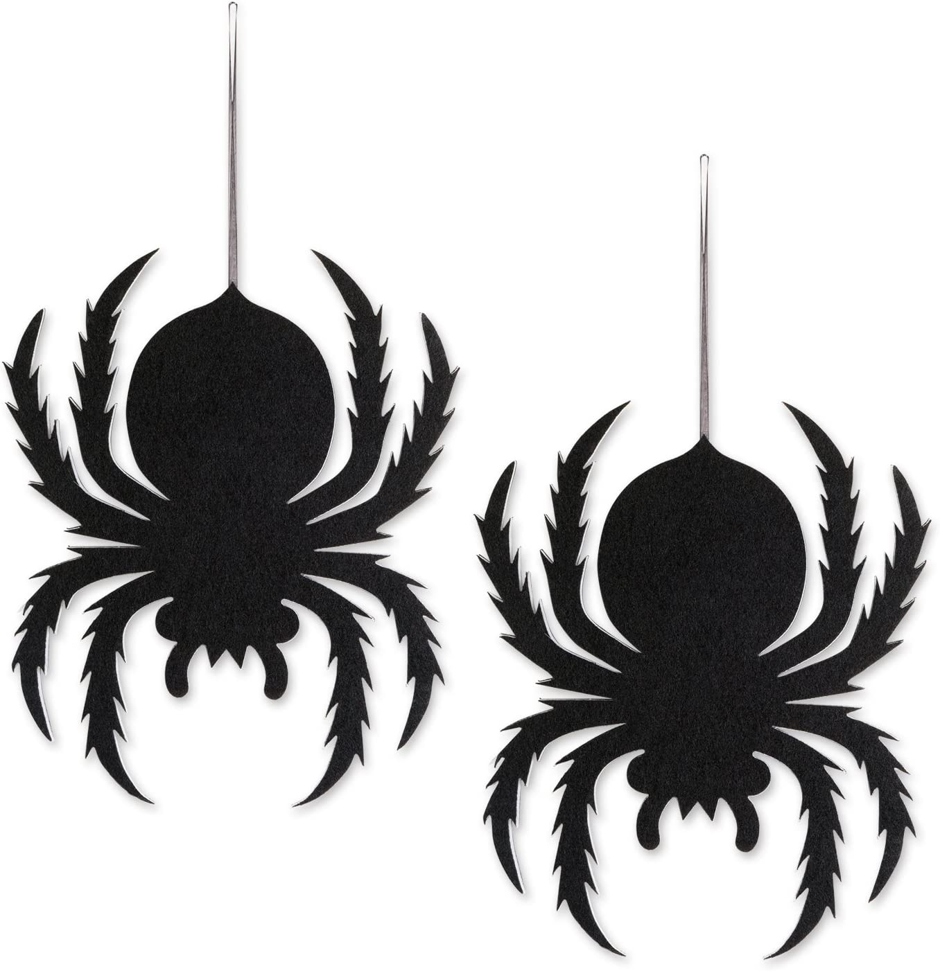 DII Indoor and Outdoor Foam Halloween Hanging Door Decorations and Wall Signs For Home School fice Party Decorations Set of 2 Spiders