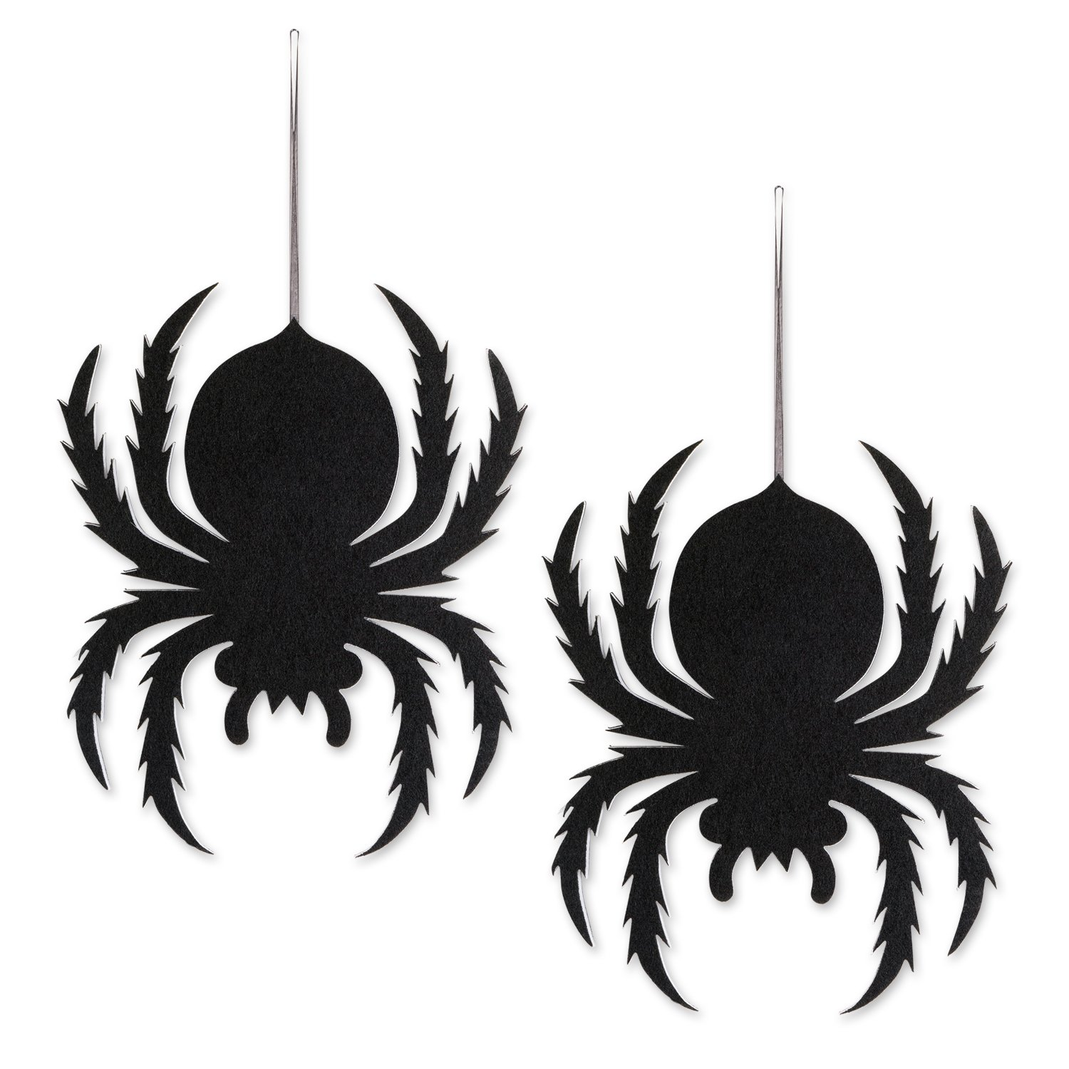 DII Indoor and Outdoor Foam Halloween Hanging Door Decorations and Wall Signs,  For Home, School, Office, Party Decorations, Set of 2 - Spiders