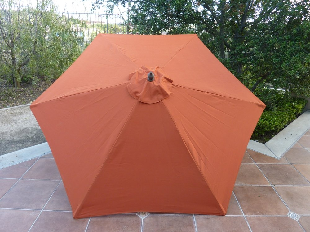 Amazon.com  9ft Umbrella Replacement Canopy 6 Ribs in Terra Cotta (Canopy Only)  Outdoor Canopies  Garden u0026 Outdoor & Amazon.com : 9ft Umbrella Replacement Canopy 6 Ribs in Terra Cotta ...