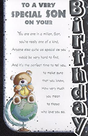 Son birthday card to a very special son on your birthday amazon son birthday card to a very special son on your birthday m4hsunfo
