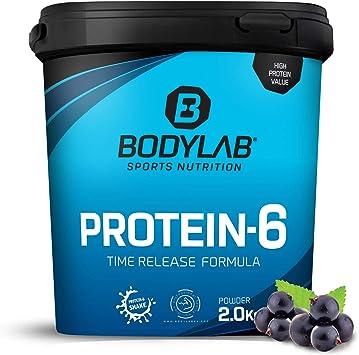 Protein-6 de Bodylab24 2 kg | Polvo de proteína multicomponente con 6 fuentes de proteína | Arándano