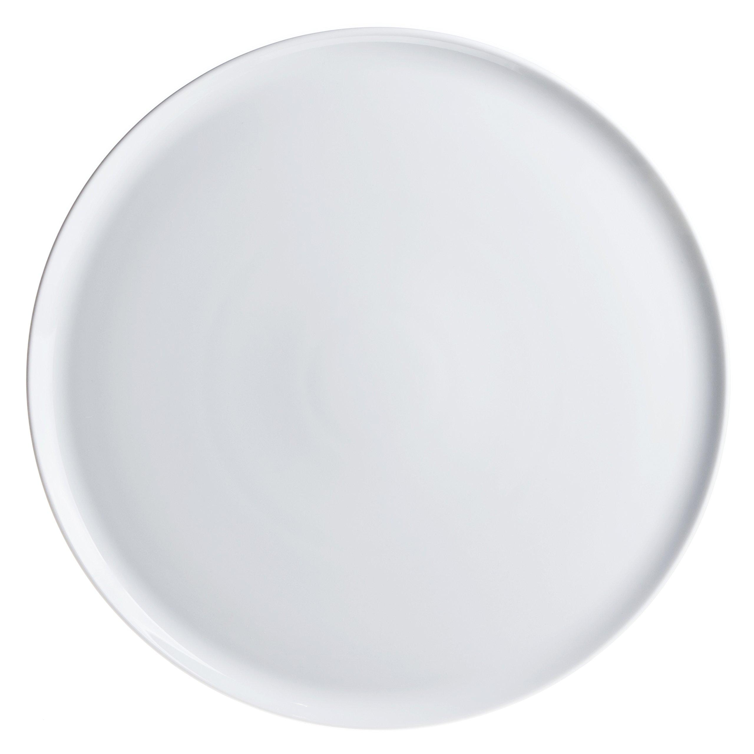 3-Piece Pizza/Pie/Serving Platters (Dishes) Set, White Porcelain, Restaurant&Hotel Quality, size 12.6''