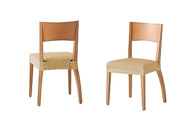 Pack de 2 Fundas de Asiento para Silla Modelo Tunez, Color Beige, Medida 40-50cm: Amazon.es: Hogar