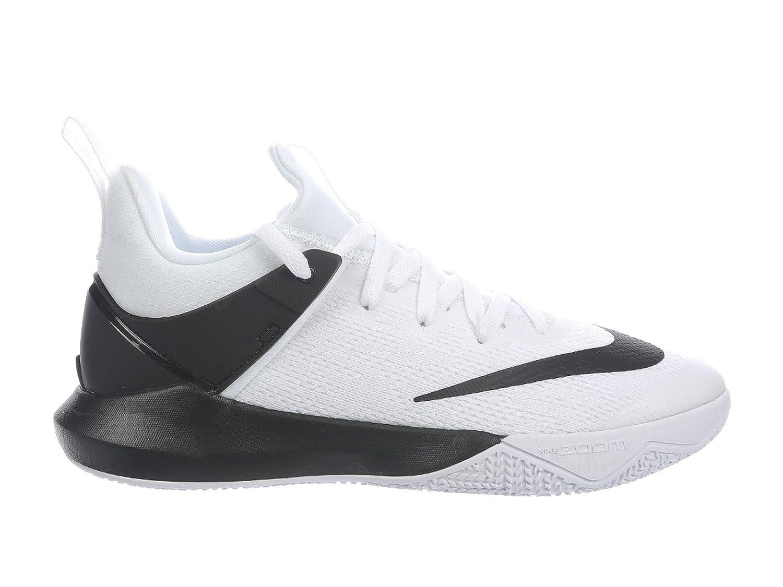 NIKE Men's Zoom Shift Nylon Basketball Shoes B004G6Z5EU 12.5 D(M) US|White/Black
