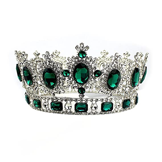 Green Tiara  with natural stone nephritis Headband for woman nephritis crown jade crown
