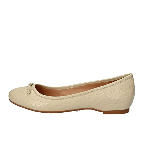 Armani Jeans Ballerine Donna Pelle Verniciata Beige 40 EU  Amazon.it ... 2856034a6ae