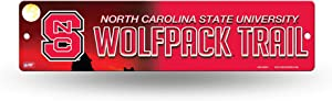 NCAA North Carolina State Wolfpack 16-Inch Plastic Street Sign Décor