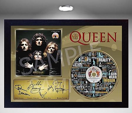 SGH SERVICES New! Freddie Mercury Queen Bohemian Rhapsody - Disco de CD con Foto enmarcada, diseño de Rhapsody: Amazon.es: Hogar