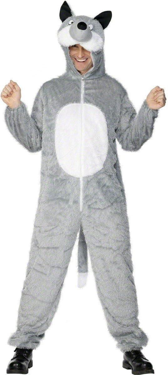 Smiffys Disfraz de Lobo Gris para Adulto: Amazon.es: Juguetes y ...
