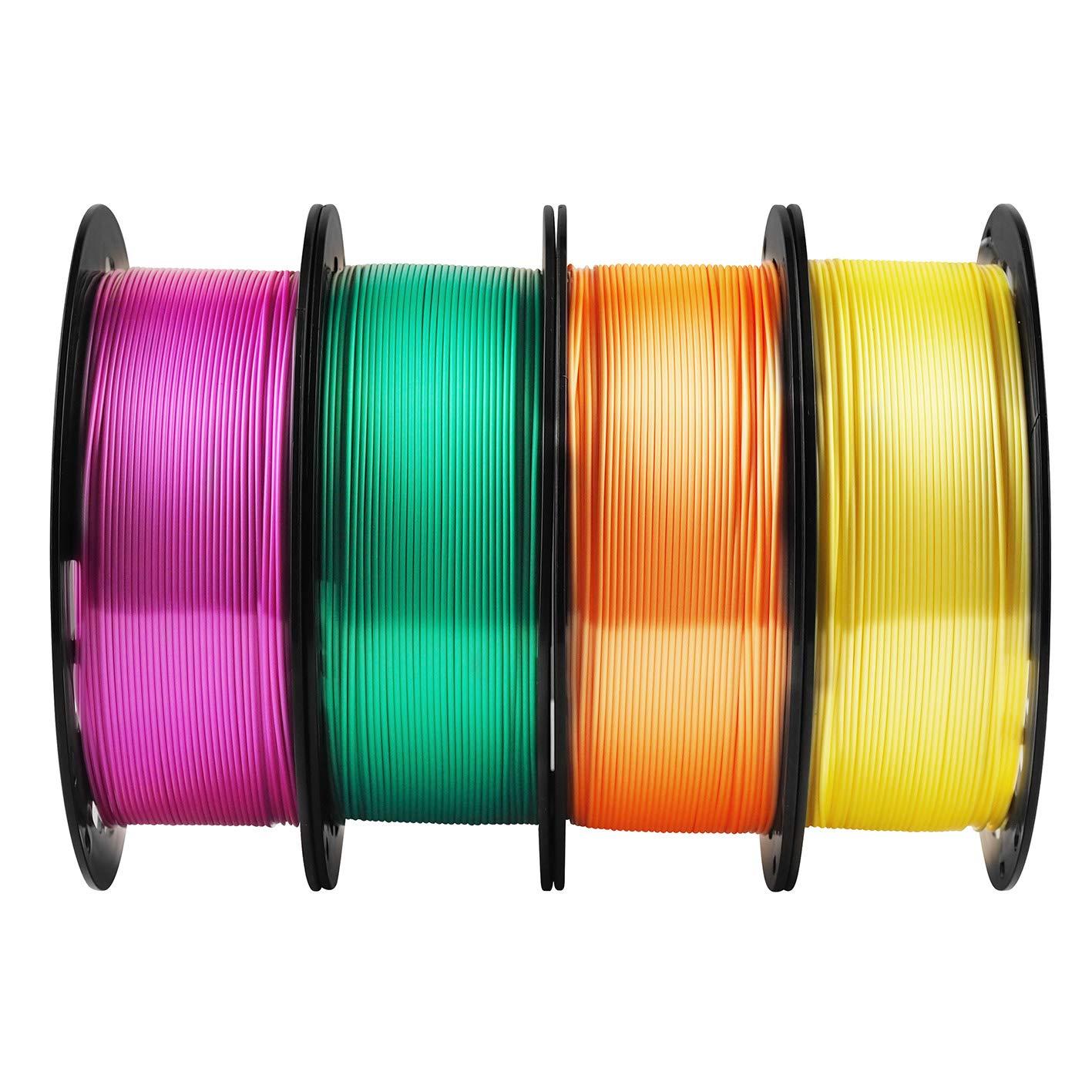 TTYT3D Paquete de filamento para impresora 3D PLA 4 en 1, amarillo ...