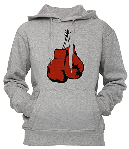 Boxeo Guantes Unisexo Hombre Mujer Sudadera Con Capucha Pullover Gris Tamaño S Unisex Mens Womens Hoodie