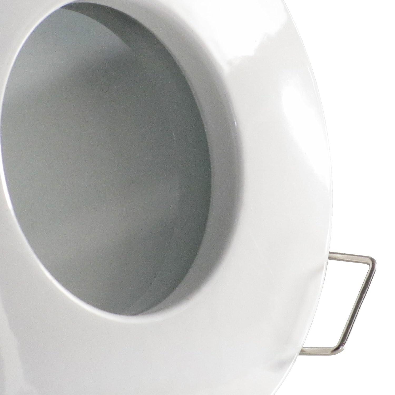 3er Set (3-5er Sets) Bad Decken Decken Decken Einbaustrahler NAUTIC IP65 rund 12V EDELSTAHL OPTIK gebürstet Deko LED 1 Watt Warm-Weiß Einbauleuchte für Feuchtraum Innen + Außen mit Trafo 75f5ea