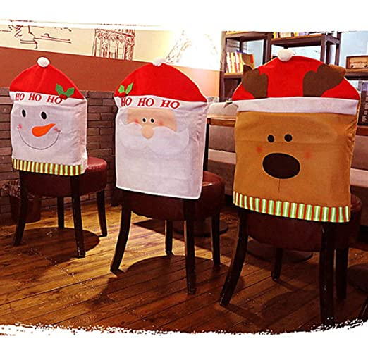 Navidad cocina silla fundas juegos Holiday Festive decoración para ...