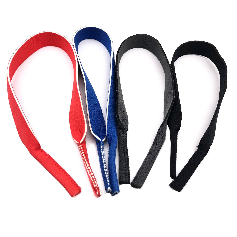 Outman Pack of 4 pcs Super Light Soft Neoprene Eyeglass Strap Sunglasses Holder 4332661067