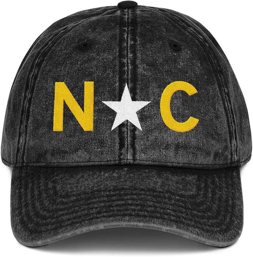 NC North Carolina Flag Vintage Cotton Twill Dad Hat