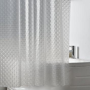 3D Glass Pattern Translucent Shower Curtainwaterproof Thicken Anti Mildew Bathroom Partition