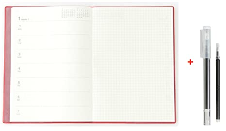 muji 2018 monthly weekly note daily appointment book academic planner erasable