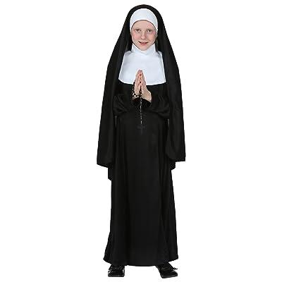 Kids Nun Costume; Catholic Sister robe for Girls: Clothing
