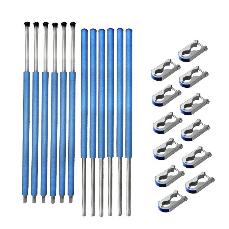Netzstangen 6 x komplett für Sicherheitsnetz des Trampolin 427 bis 430 cm