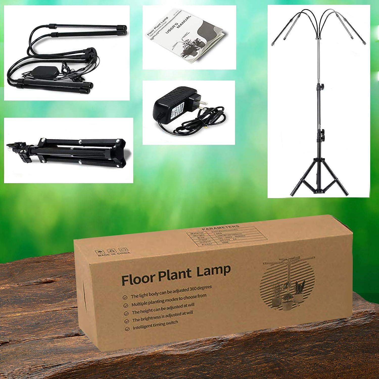 Grow Light with Floor Stand Tripod Aggiustabile 63-160CM per Indoor Tall Grandi impianti Full Spectrum Floor Plant Light Brightness Dimmable 3//6//12H Timer