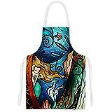 "KESS InHouse Mandie Manzano ""Fathoms Below Mermaid"" Artistic Apron, 31 by 35.75"", Multicolor"
