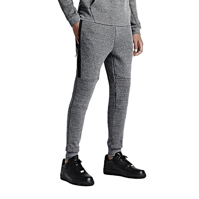 best sneakers 54068 0fa47 Nike Men s Tech Fleece Pants Tumbled Grey Black Heather Volt 545343-037