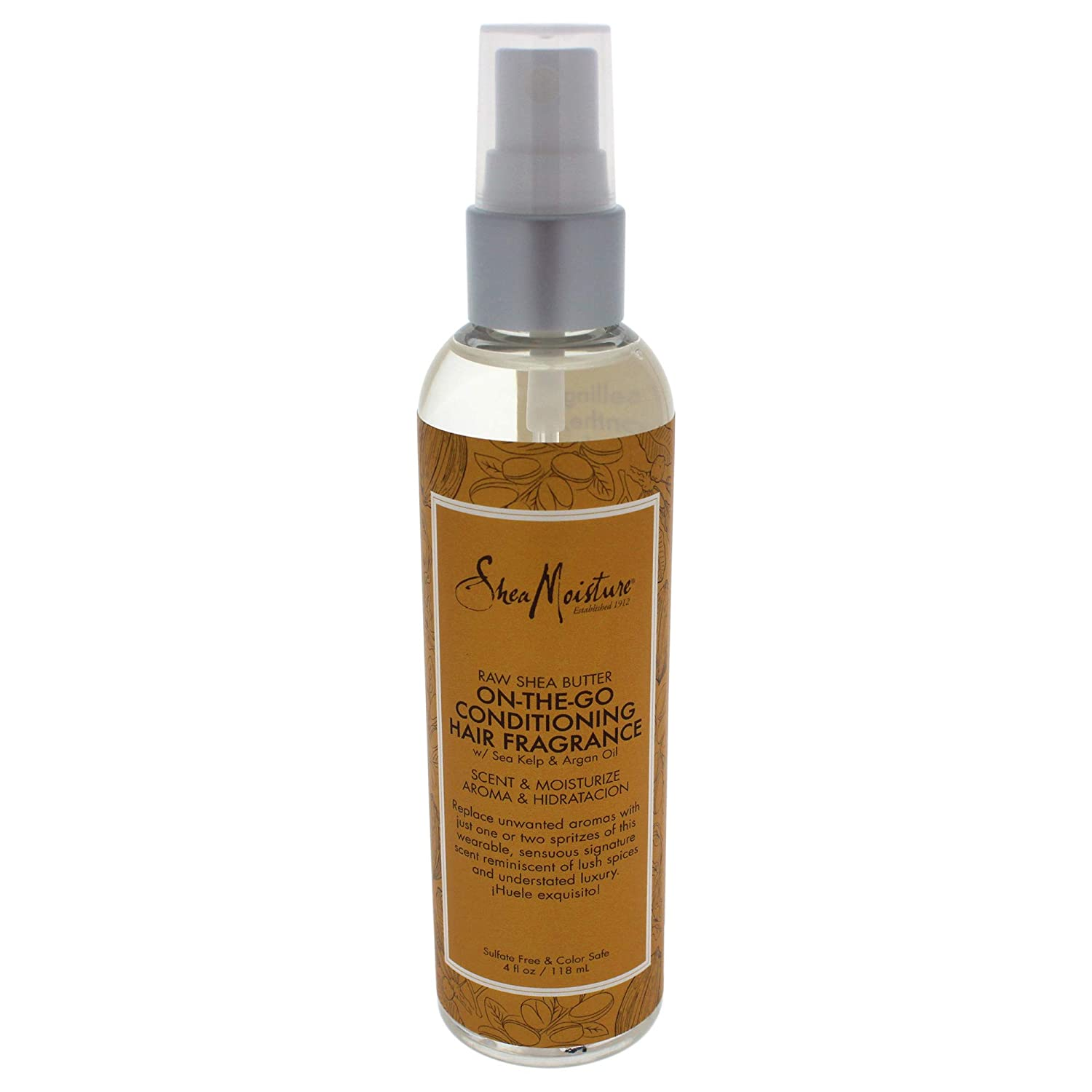 Shea Moisture Raw Butter On-the-Go Conditioning Hair Fragrance Spray for Unisex, 4 Ounce