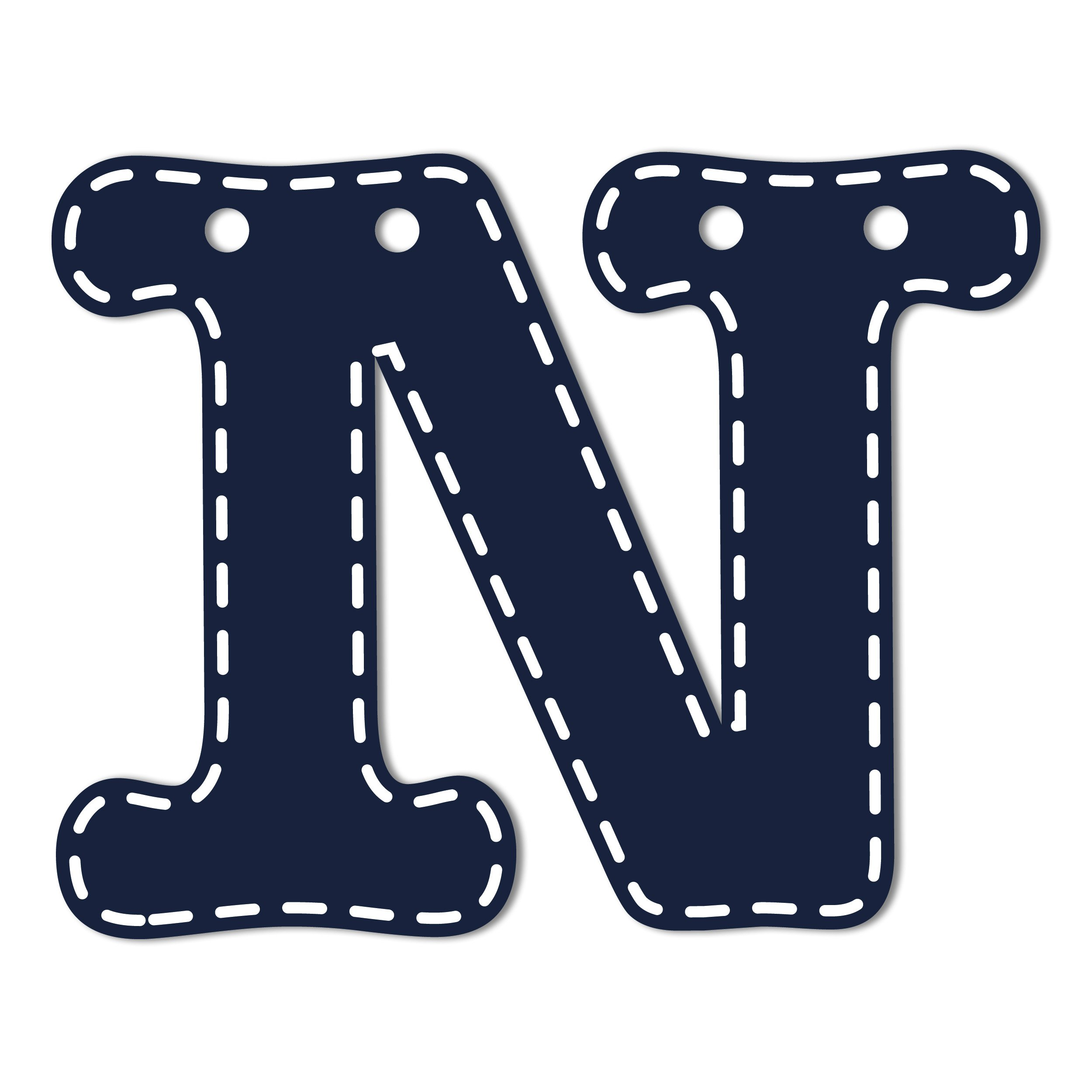 CoCaLo Mix & Match Navy Hanging Letters, N