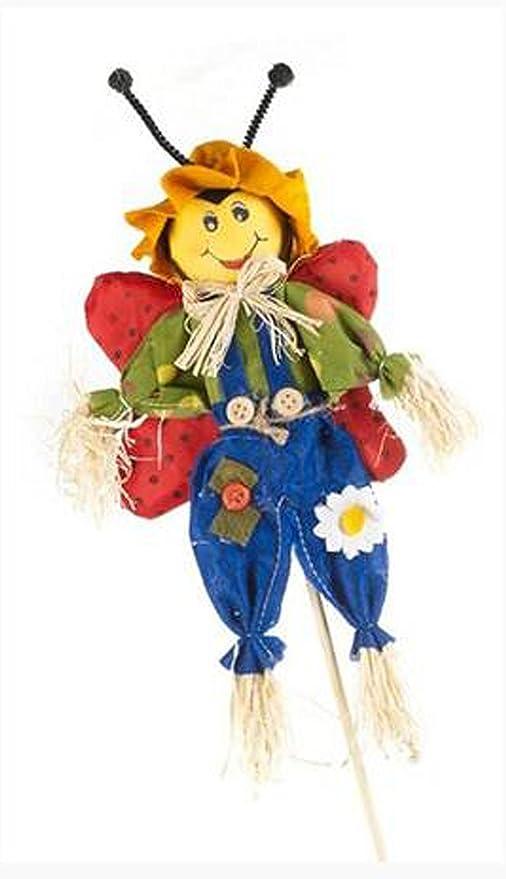 Mabel de espantapájaros de mariquita a presión diseño de tamaño grande: garden, diseño cilíndrico, para invernaderos, decoración de macetero: Amazon.es: Jardín