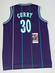Dell Curry signed Charlotte Hornets jersey autographed JSA - Autographed NBA Jerseys