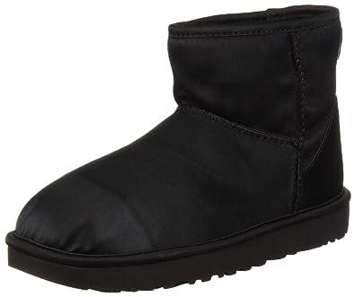c83cb7d81fc7 UGG Women s W Classic Mini Satin Fashion Boot Black 5 ...
