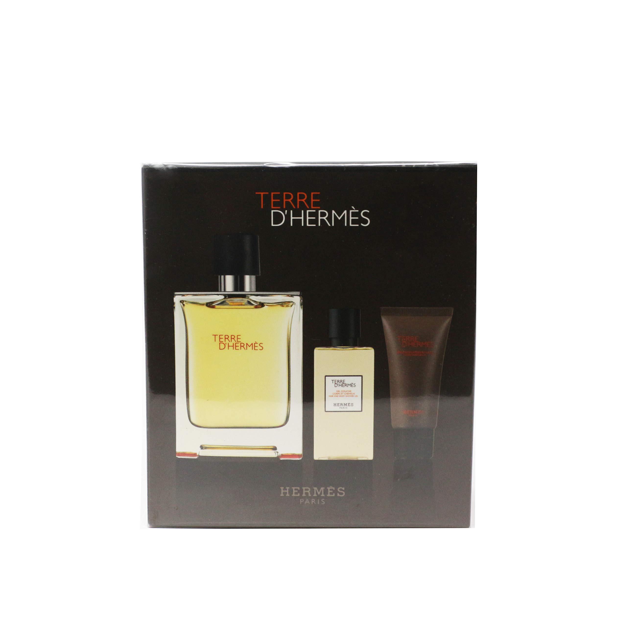 Hermes Terre D'hermes For Men 3-Piece Gift Set New In Box