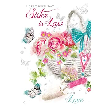 Sister In Law Birthday Card Amazon Office Products