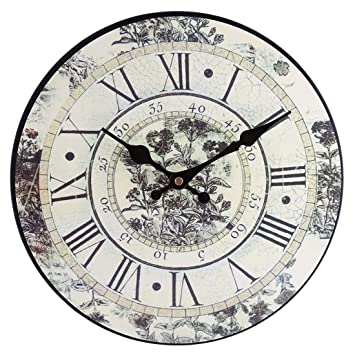 Winnian Relojes de Pared Vintage - 30cm - Reloj de Pared Silencioso (Gris): Amazon.es: Hogar