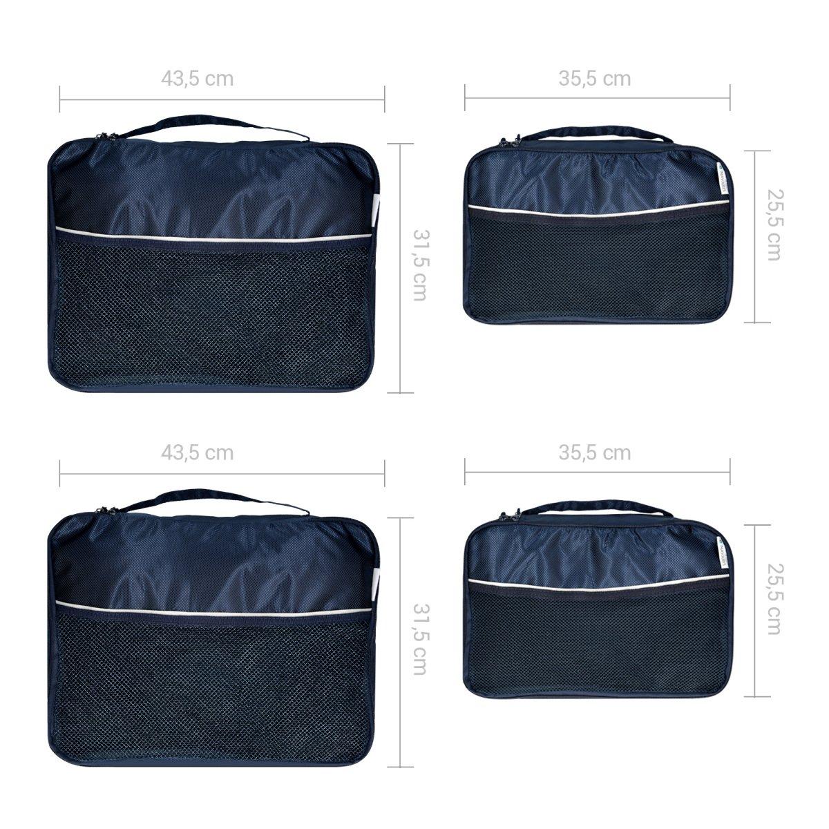 cbf81f7f993c2 Set de 9 Bolsas para Maleta de Navaris en Azul Oscuro - Bolsas de Ropa  Zapatos Ampliar imagen