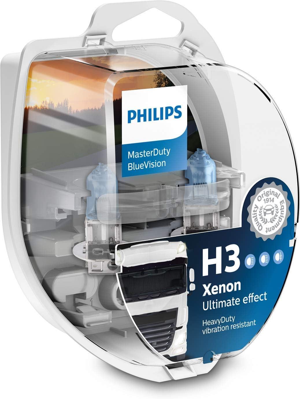 Philips Masterduty Bluevision 24v H3 Scheinwerferlampe Bürobedarf Schreibwaren